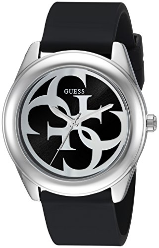 GUESS Women's Stainless Steel Silicone Logo Watch, Color: Black (Model: - Colors Gucci Logo
