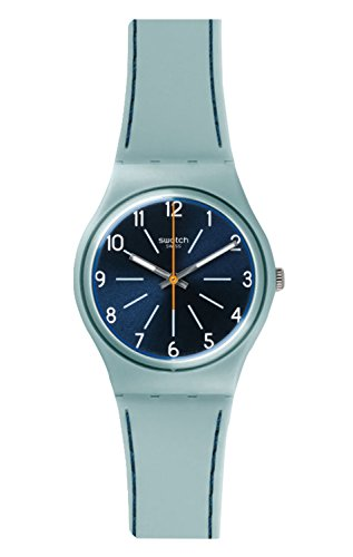Swatch Originals Blue Stitches Blue Dial Silicone Strap Unisex Watch GM184