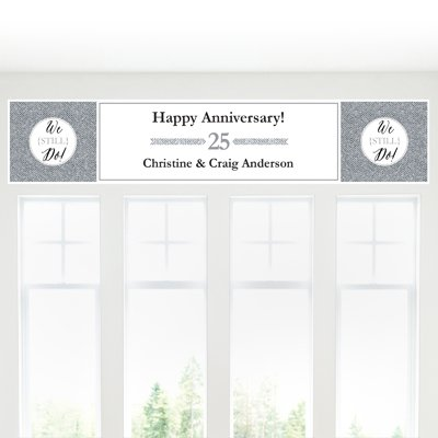 Big Dot of Happiness Custom We Still Do - 25th Wedding Anniversary - Personalized Anniversary Party Decorations Party -