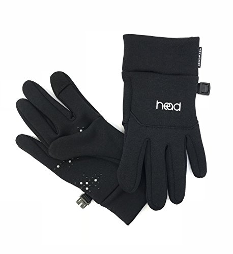 HEAD Kids' Large Touchscreen Gloves - Black & Silver