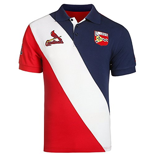 (St Louis Cardinals MLB Baseball Men's City Crest Polo Shirt)
