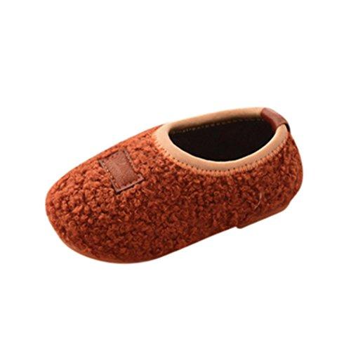 TPulling Mode Junge Und Mädchen Herbst Und Winter Kinder Süße Warme Baumwollschuhe Lässige Schuhe Braun