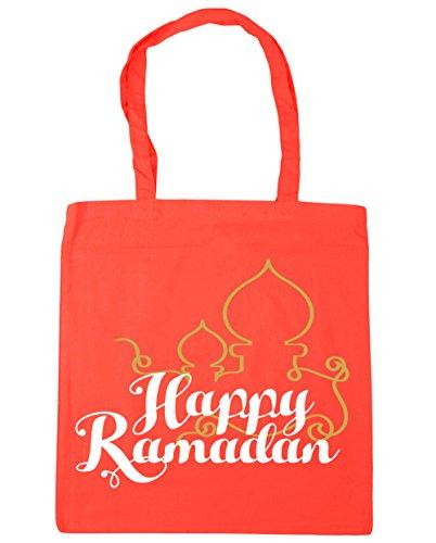 HippoWarehouse happy ramadán Tote Compras Bolsa de playa 42cm x38cm, 10litros Coral