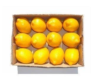 Limoni GODHL artificiale di frutta sintetica con decorazione artistica, colore: giallo