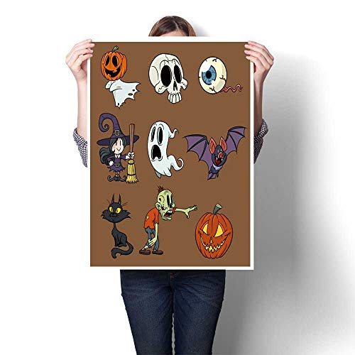 The Picture for Home Decoration Cartoon Halloween Elements in Separate Layers for Easy Edit Painting,32