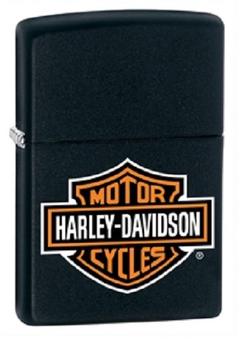 Zippo Black Matte Classic Lighter - Harley Davidson (Zippo Rocky Mountain)