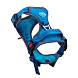 ThinkPet No Pull Harness Breathable Sport Harness with Handle - Reflective Padded Dog Safety Vest Adjustable Harness, Back/Front Clip for Easy Control S Light Blue