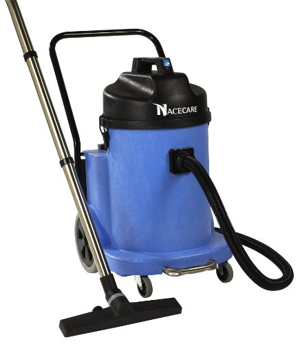 NaceCare WV900 Wet Vacuum with C2 Front Mount Squeegee Kit, 12 Gallon Capacity, 1.6HP, 95 CFM Airflow, 42' Power Cord - Gallon Canister 12