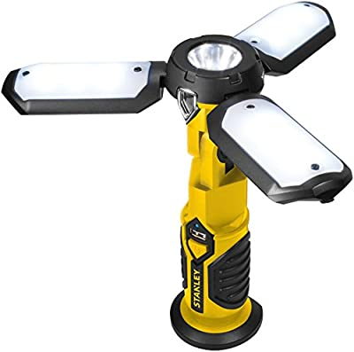 STANLEY SAT3S Rechargeable 300 Lumen LED Satellite Work Light with USB Charger