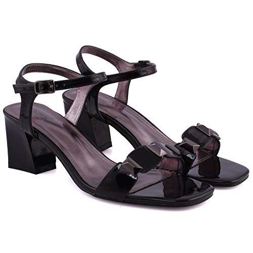 Block Strap Buckle UK Size Freya Slingback Casual Strap Summer Closure 3 Black Women Heel Ankle Mid Unze Decorated Toe Sandal Low 8 Sandal wn8Iqx4HUO