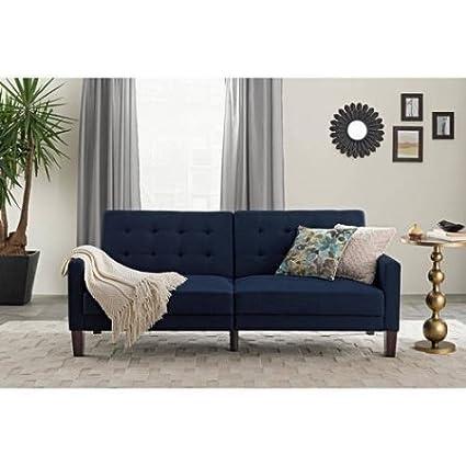 Amazon.com: FabricTufted Futon, Multiple Colors, Home Furniture ...