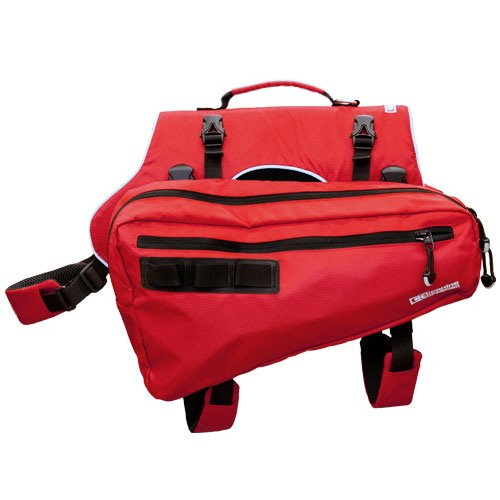 Canine Equipment Ultimate Trail Dog Pack, Medium, Red, My Pet Supplies