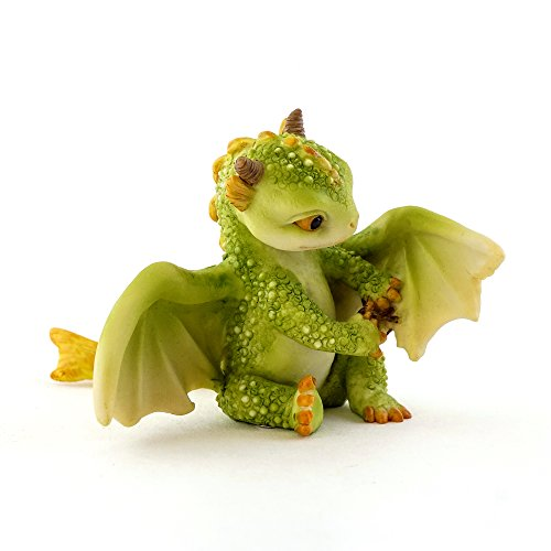 Top Collection Rex The Green Dragon - Mini Collectible Fantasy Figurine (Live to Fight Another Day)