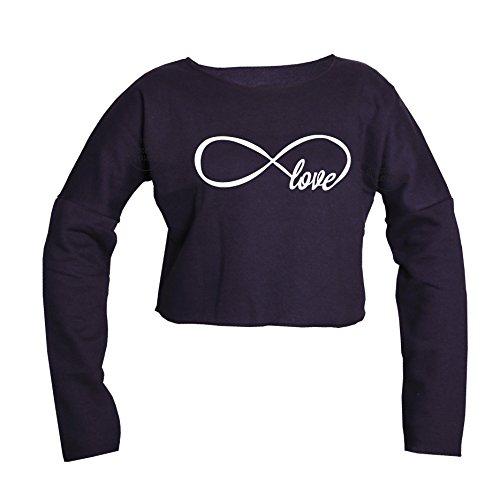Trend Fashion_crop - Camiseta de manga larga - para mujer negro
