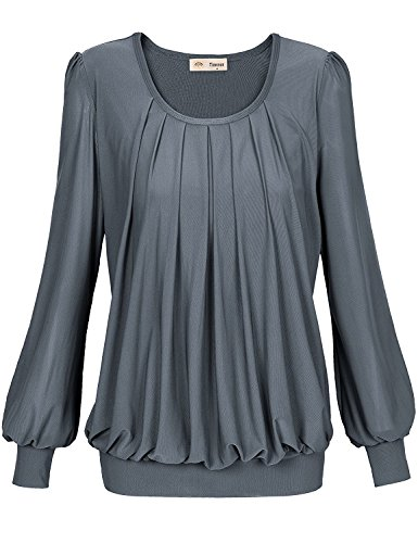 Timeson Womens Sleeve Pleated Fitted