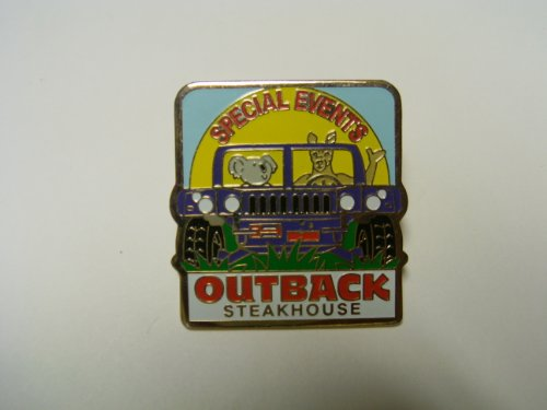 outback-steakhouse-special-events-with-kangaroo-koala-and-alligator-riding-in-a-jeep-lapel-pinlapel-
