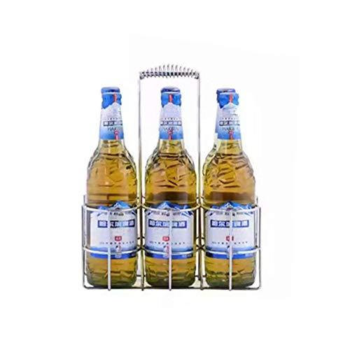 Tabletop Wine Holder Bottle Server Metal Table Standing Rack Hand Basket Beer Container Restaurant - Wine Holder
