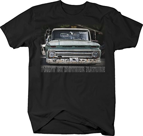 OS Gear Paint by Mother Nature Chevy C10 Farm Truck Patina Lowered Tshirt - XLarge