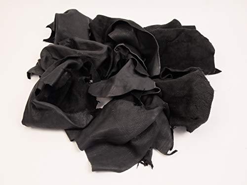 1 Pound of Deer Leather Scrap Remnants (40-LB-CRSM) - Deer Leather