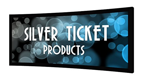 "STC-138-G Silver Ticket Curved Frame 2.35:1 4K Ultra HD Ready Cinema Format (6 Piece Fixed Frame) Projector Screen (2.35:1, 138"", Grey Material)"