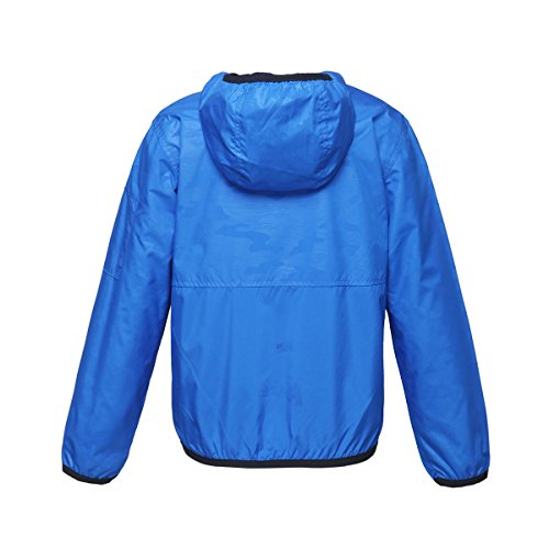 Rokka&Rolla Boys' Lightweight Water Resistant Zip-Up Hooded Windbreaker Jacket by Rokka&Rolla (Image #3)