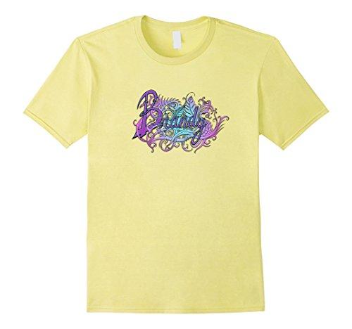 Men's Brandy Tshirt Hand Drawn Digitally Enhanced Female Name 3XL Lemon - Hand Drawn Plans