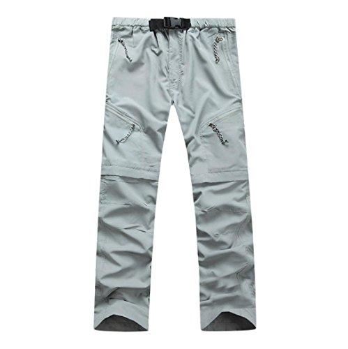- Men Pants Daoroka Men's Summer Detachable Waterproof Casual Quick Dry Outdoor Comfy 2018 Fashion Sport Sweatpants Trousers (XL, Gray)
