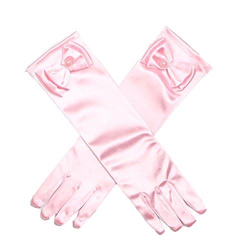 Shiny Toddler Girls Princess Dress-Up Glove,Pink ()