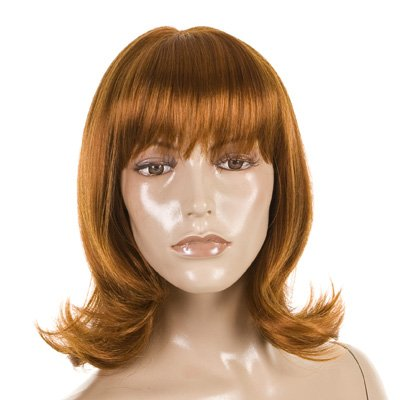 Sandy Auburn Ginger Cute Fashion Flick 50's 60's Style Wig -