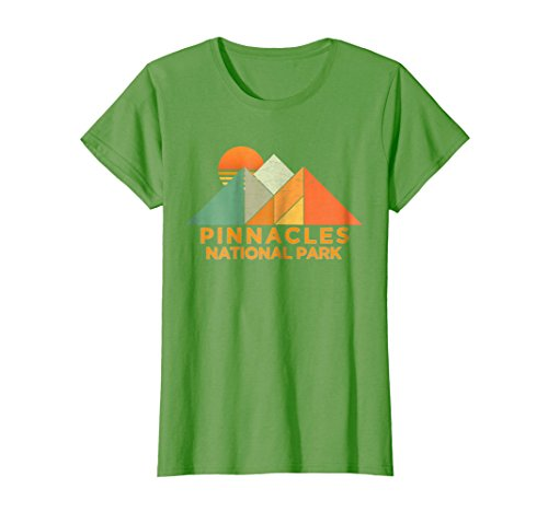 Womens Retro Vintage Pinnacles National Park Tee Shirt Medium Grass (Pinnacle Green Grass)