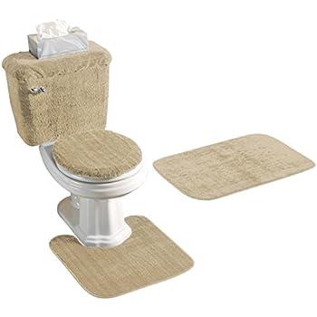Amazon Com Black Bathroom Rug Set 4 Pc Home Amp Kitchen