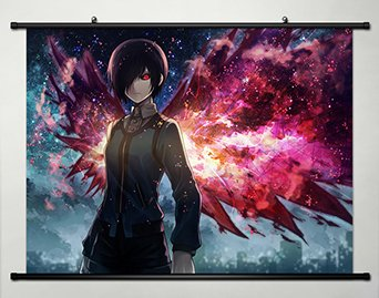 Wall Scroll Poster Fabric Painting For Anime Tokyo Ghoul Tou