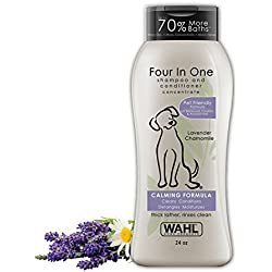 Wahl 4-In-1 Calming Pet Shampoo - Cleans, Conditions, Detangles, & Moisturizes with Lavender Chamomile - 24 oz