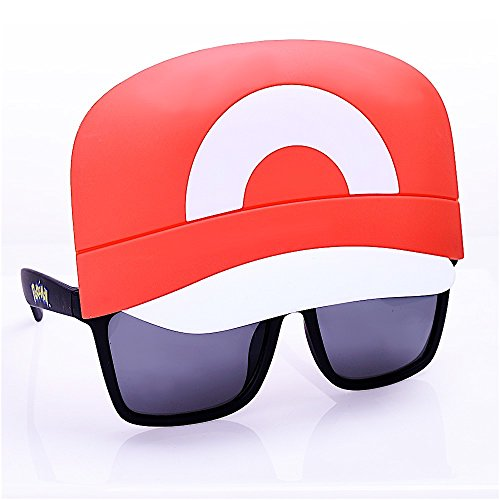 Costume Sunglasses Pokemon Ash Sun-Staches Party Favors UV400 ()