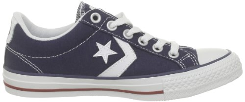 Ox Star Child Navy Converse Player Trainers Navy White Core Red Canv Unisex H4qwqCY