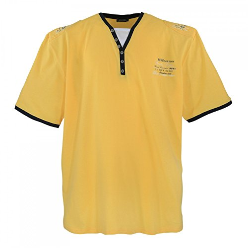 XXL Shirt by Lavecchia, erhältlich bis Übergröße 7XL, gelb, Größe:6XL