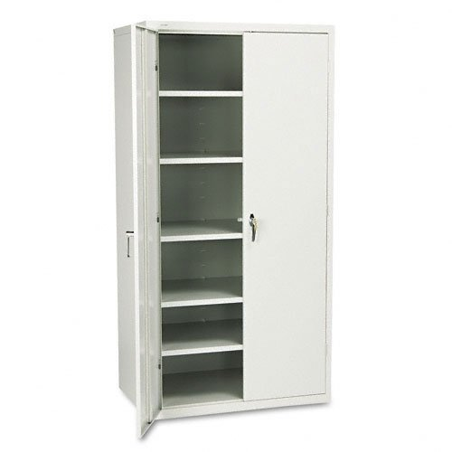 HON Brigade Series Five-Shelf Storage Cabinet - High Storage Cabinet, 36w by 24d by 72h, Light Gray (HSC2472)
