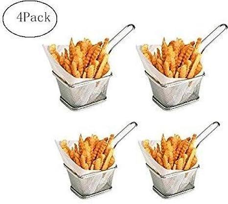 Conjunto de herramientas de cocina de papas fritas de acero inoxidable de 4 piezas Mini canastas