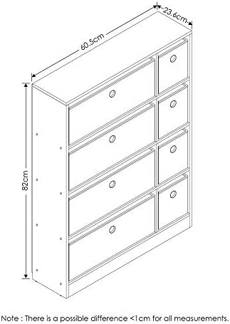 home, kitchen, furniture, accent furniture,  storage cabinets 5 on sale Furinno Econ Organizer Cabinet, Espresso/Light Brown deals