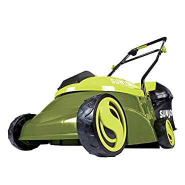 Sun Joe MJ401C-XR Mow Joe 14 inch 28V 5 Ah Cordless Lawn Mower, Green