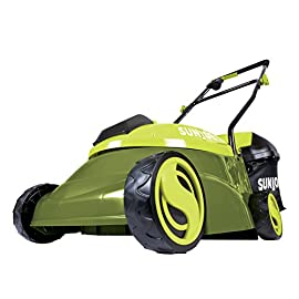 "Sun Joe MJ401C 14-Inch 28-Volt Cordless Push Lawn Mower 105 POWERFUL: Perfect for small to medium lawns, battery-powered mower's durable steel blade cuts a crisp 14"" wide path with precision in a single pass PERFORMANCE: The 28 V 4 Ah rechargeable lithium-ion battery for up to a quarter acre of continuous mowing per charge ADJUSTABLE DECK: Tailor cutting height with 3-position manual height adjustment"