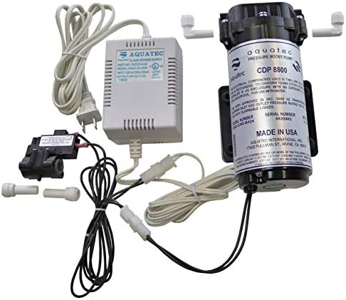 Aquatec 8800 Booster Pump Kit for up to 200 GPD RO Reverse Osmosis water filtration'system for both'standard and manifold type'systems 8852-2J03-B424 PSW-340 Made in USA