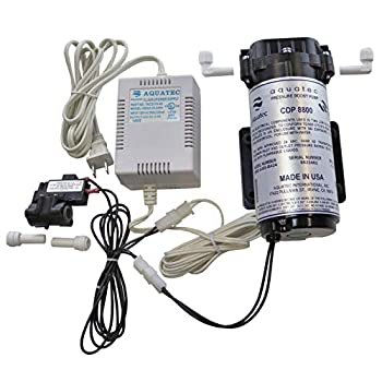 Image of Aquatec 8800 Booster Pump Kit for up to 200 GPD RO Reverse Osmosis water filtration system for both standard and manifold type systems 8852-2J03-B424 PSW-340 Made in USA Home Improvements
