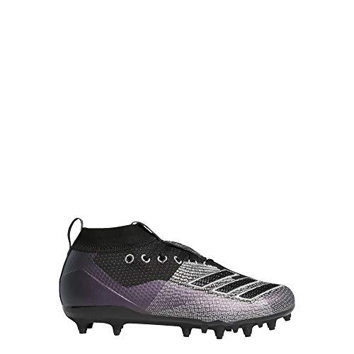 adidas Unisex-Kid's Adizero 8.0 Football Shoe, Black/Night Metallic/Grey, 5 M US Big Kid