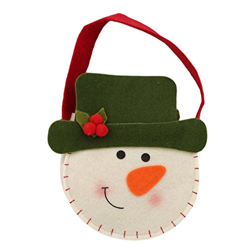 (SOURBAN Stereoscopic Christmas Candy Bag Cloth Tote Gift Bag Santa Claus Snowman Snack Bag,Christmas)