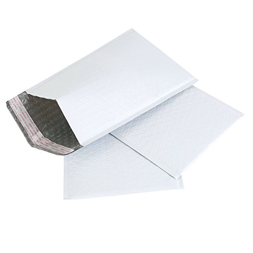Adaman #0 Poly Bubble Mailers - 6x10 Inch 50pc Bubble Envelopes, Self Seal Padded Envelopes