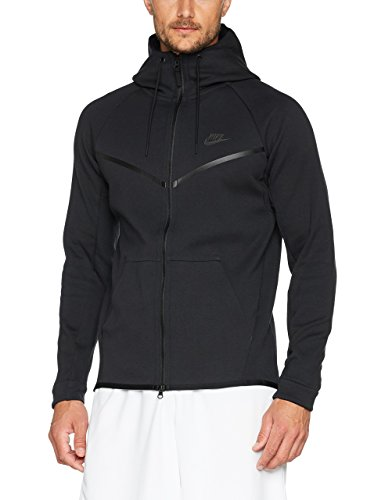 Nike Mens Tech Fleece Pack Full Zip Training Hoodie Black/Black AA3784-010 Size ()