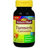 Nature Made Tumeric Capsules 500 Mg, 60 Count , Pack of 4 For Sale
