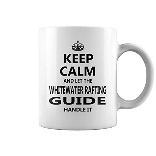 Whitewater Rafting Guide Keep Calm Job Title Mug - Coffee Mug (White) ()