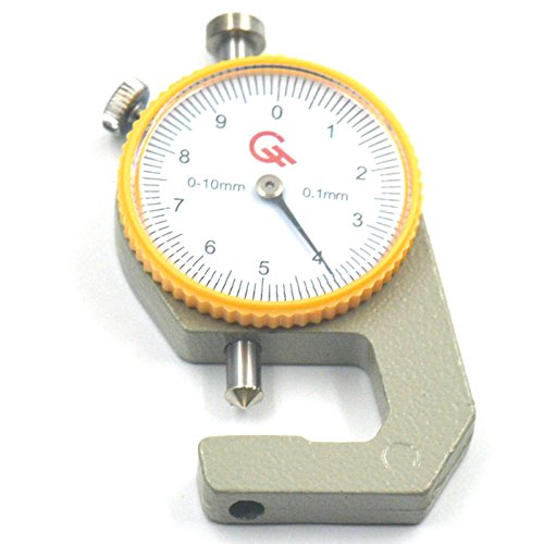 0-10mm Leather Thickness Metal Gauge Tester Measure Leathercraft Tool Craft - 5